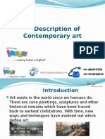 Description of Contemporary Art