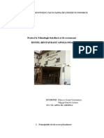 Proiect Tehnologie Hotelieră Și de Restaurant