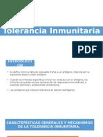 Tolerancia Inmunitaria (inmunologia)