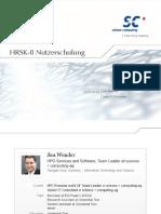 HRSK II Nutzerschulung