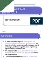 Organisational Behaviour - Introduction 2