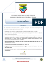 Escriturario Prefeitura Sapucaia Fundatec 2012
