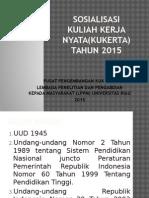 Sosialisasi Kuliah Kerja Nyata(Kukerta) Tahun 2015