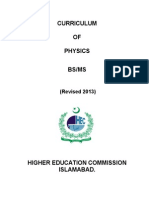 physics 2012-13 Curriculum