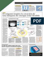 El Origami Inspira La Cración de Una Lámpara de Energía Solar Flexible