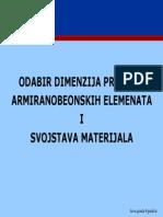 Odabir Dimenzija AB Elemenata
