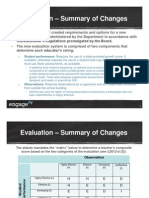 Summary of 2015 Teacher Evaluation Changes