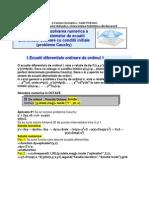 Rezolvarea Numerica a Ecuatiilor Si Sistemelor de Ecuatii Diferentiale Ordinare