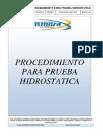 Mspc-sgi-pro-031 Procedimiento Para Prueba Hidrostatica Rev 2