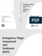 Emergency Triage Assessment and Treatment ETAT 2005