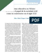 La Reforma Educativa en Mexico Al Debate El Papel de La Sociedad Civil Como Su Constructor en El Sigo Xxi