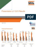 1Q15 Presentation of Results