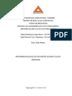 Desafio profissional 2º Semestre Profissionalização docente na Educação Infantil.docx