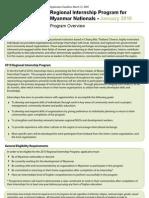 Internship Overview Jan10