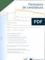 2014 - 2015 Document Formulaire de Candidature