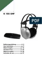 k105uhf Manual