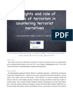 The Rights and the Role of the Victims of Terrorism in Countering Terrorist Narratives