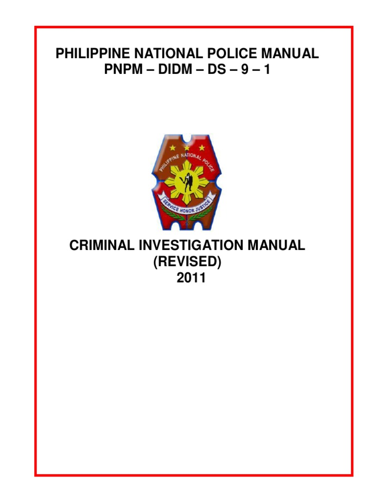 Philippine national police criminal investigation manual.