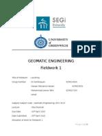 Levelling Fieldwork Report