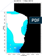 Sea Temperature Anomaly Mar 2014