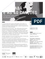 20140601 | Programa de Sala ALI BABÁ E AS 40 CANÇÕES | Concertos para Todos | Dia Mundial da Criança