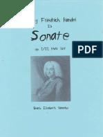 Handel Sonate Tubasolo