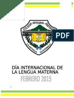 Día Internacional de La Lengua Materna Febrero 2015