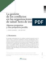 La Gestión de Los Conflictos en Las Organizaciones de Salud, Hora de Innovar INFOJUS 6 de Mayo 2015