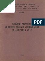 Istruzione provvisoria sui bottoni innescanti antiuomo AU 52 ed anticarro AC 52 (5147) 1956