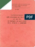 Istruzione per il tiro ridotto cal. 14,5 da carri armati M47, M60 A1 e Leopard (6138) 1975