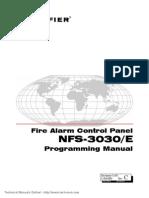 Notifier NFS 3030 E Programming Manual1