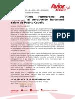 Nota de Prensa Cierre Aeropuerto de Valencia