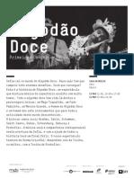20140323 | Programa de Sala Algodão Doce | Primeiros Concertos