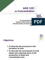 5)Urine Concentration
