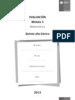 evaluacion decimales quinto mineduc