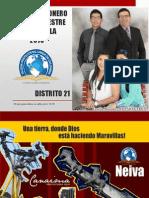Informe Misionero Neiva, Dto 21 - Primer Trimestre
