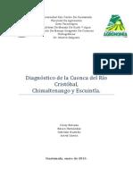 Diagnóstico de La Cuenca Del Río Cristóbal 2013
