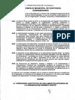 7-7-2011. Ordenanza Sustitutiva de Reglamentos Internos de La Urbanización Kennedy Norte. PDF