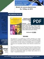 Nuevas Adquisiciones Centro de Documentación CISH Mayo 2015