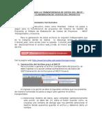 INSTRUCTIVO PARA LA TRANSFERENCIA DE DATOS DEL MECP - MÓDULO DE ELABORACIÓN DE COSTOS DEL PROYECTO