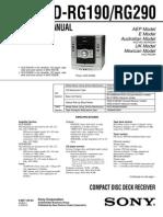 Hcd-rg190 Rg290 Sony Diagrama