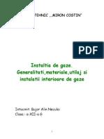 Instaltia de Gaze.generalitati,Materiale,Utilaj Si Instalatii Interioare de Gaze