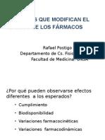 Factores Que Modifican El Efecto de Las Drogas 2014