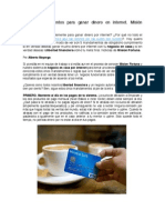 Los 5 Mandamientos Para Ganar Dinero en Internet. Por Alberto Mayorga, Equipo Mision Fortuna