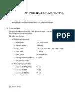 Penentuan Hasil Kali Kelarutan Pbi2