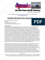 Turbine Flow Loop Report