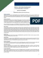 Notice to the Market - Market Performance - April 2015