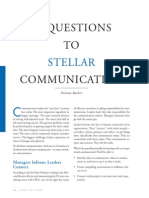 Booher, 10 Questions to Stelar Communication