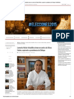 07-05-15 Lamenta Héctor Astudillo crimen en contra de Ulises Fabián, aspirante a presidencia de Chilapa