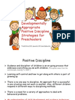 parent training develomentally appropropriate positive discipline for preschoolers